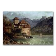 Trademark Fine Art Gustave Courbet 'The Chateau de Chillon' Canvas Art