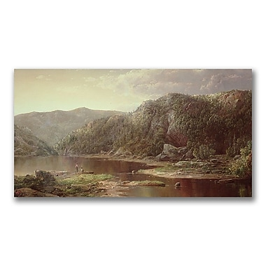 Trademark Fine Art William Sonntag 'On the Senandoah' Canvas Art 24x47 Inches