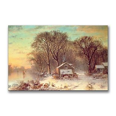 Trademark Fine Art Thomas Doughty 'Winter in Malden Massachusetts' Canvas Art
