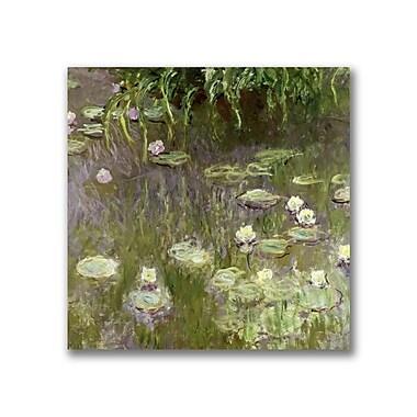 Trademark Fine Art Claude Monet 'Waterlilies at Midday' Canvas Art