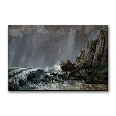Trademark Fine Art Gustave Courbet 'Downpour at Etretat' Canvas Art
