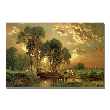 Trademark Fine Art George Inness 'Medfield Massachusetts' Canvas Art 16x24 Inches