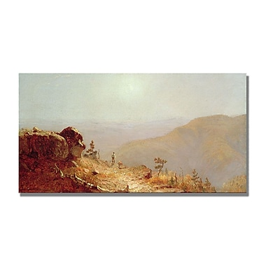 Trademark Fine Art Sanford Gifford 'South Mountains Catskills' Canvas 12x24 Inches