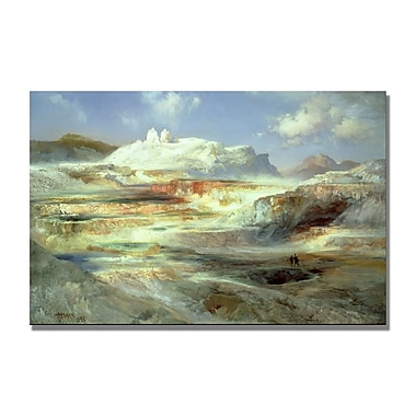 Trademark Fine Art Thomas Moran 'Jupiter Terrace Yellowstone' Canvas Art 22x32 Inches