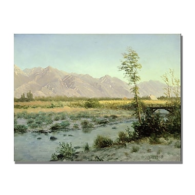 Trademark Fine Art Albert Biersdant 'Prairie Landscape' Canvas Art