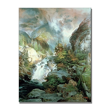 Trademark Fine Art Thomas Moran 'Children of the Mountain' Canvas Art