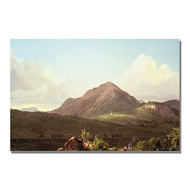 Trademark Fine Art Fredric Church 'Camp Fire in the Maine Wild' Canvas Art