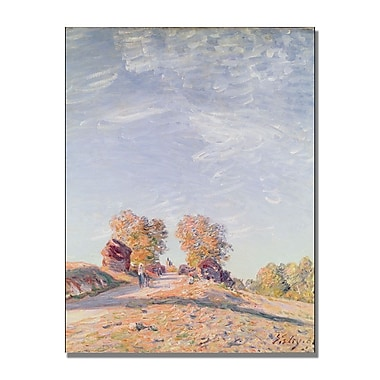 Trademark Fine Art Alfred Sisley 'Uphill Road in Sunshine' Canvas Art