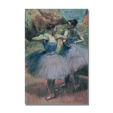 Trademark Fine Art Edgar Degas 'Dancers in Violet' Canvas Art