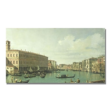 Trademark Fine Art Canatello 'The Grand Canal from the Rialto Bridge' Canvas