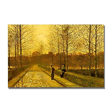 Trademark Fine Art John Grimshaw 'In the Golden Gloaming' Canvas Art