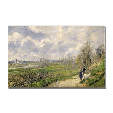 Trademark Fine Art Camille Pissaro 'La Sente du Chou' Canvas Art 14x24 Inches