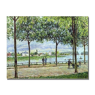 Trademark Fine Art Alfred Sisley 'The Avenue of Chestnut Trees II' Canvas Art