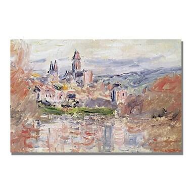Trademark Fine Art Claude Monet 'The Village of Vetheuil' Canvas Art