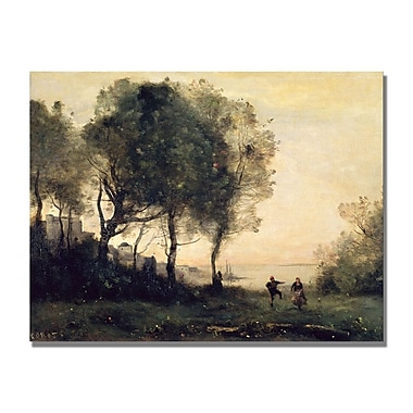 Trademark Fine Art Jean Baptiste Corot 'Souvenir of Italy' Canvas Art