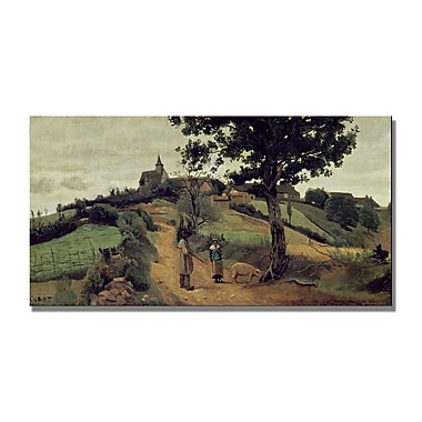 Trademark Fine Art Jean Baptiste Corot 'Saint Andre en Morvan' Canvas Art 16x32 Inches