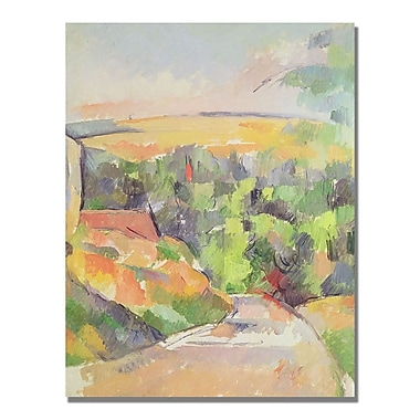 Trademark Fine Art Paul Cezanne 'Bend in the Road' Canvas Art 35x47 Inches