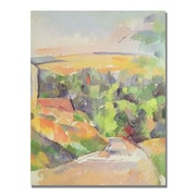 Trademark Fine Art Paul Cezanne 'Bend in the Road' Canvas Art 24x32 Inches