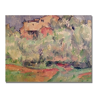 Trademark Fine Art Paul Cezanne 'The House at Bellevue' Canvas Art 35x47 Inches