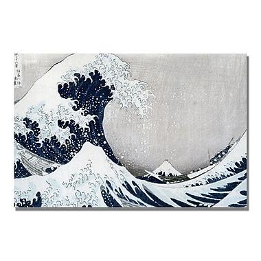 Trademark Fine Art Kanagawa-Katsushika Hokusai 'The Great Wave II' Canvas Art