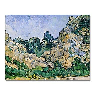 Trademark Fine Art Vincent Van Gogh 'The Alpilles 1889' Canvas Art