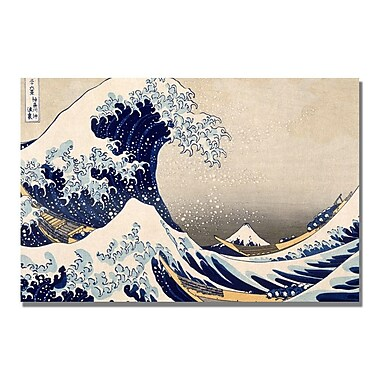 Trademark Fine Art Kanagawa-Katsushika Hokusai 'The Great Wave III' Canvas Art