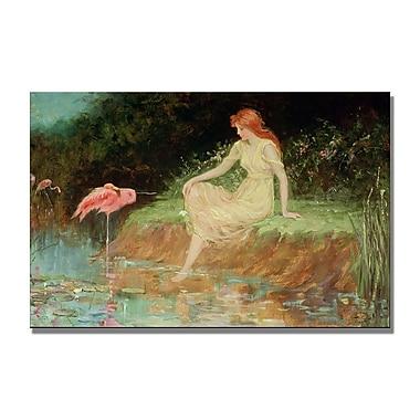 Trademark Fine Art Frederick Church 'A Trusting Moment' Canvas Art