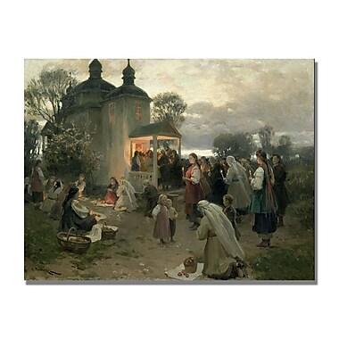 Trademark Fine Art Nikolai Pimonenko 'Easter Matins' Canvas Art