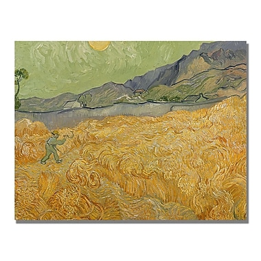 Trademark Fine Art Vincent Van Gogh 'Wheatfields with Reaper' Canvas Art