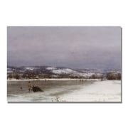 Trademark Fine Art Jervis McEntee 'Gathering Christmas Finery' Canvas Art 22x32 Inches