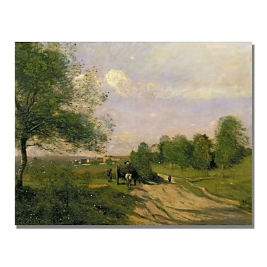 Trademark Fine Art Jean Baptiste Corot 'The Wagon Souvenir of Saintry' Canvas