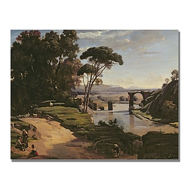 Trademark Fine Art Jean Baptiste Corot 'The Bridge at Narni' Canvas
