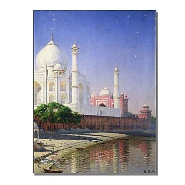 Trademark Fine Art Vasili Vereschagin 'Taj Mahal' Canvas Art