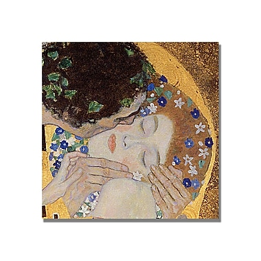 Trademark Fine Art Gustav Klimt 'The Kiss' Canvas Art