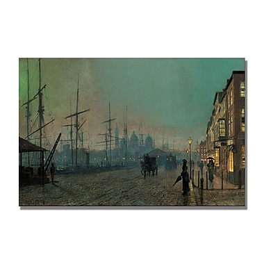 Trademark Fine Art John Grimshaw 'Humber Dockside' Canvas Art 22x32 Inches