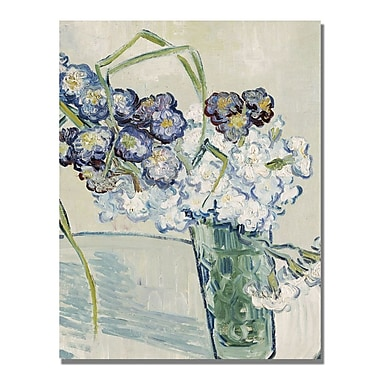 Trademark Fine Art Vincent Van Gogh 'Still Life Vase of Carnations' Canvas Art
