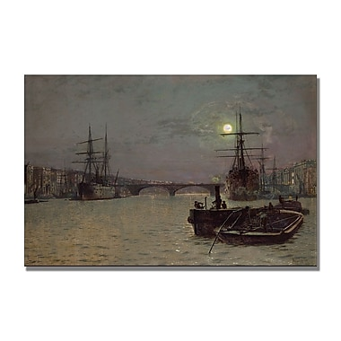 Trademark Fine Art John Grimshaw 'London Bridge Half Tide' Canvas Art 30x47 Inches