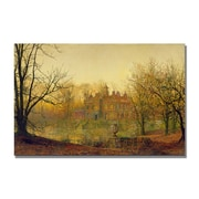 Trademark Fine Art John Grimshaw 'In Sere and Yellow Leaf' Canvas Art 22x32 Inches