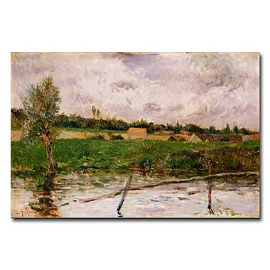 Trademark Fine Art Paul Gauguin 'Brittany Countryside' Canvas Art 22x32 Inches
