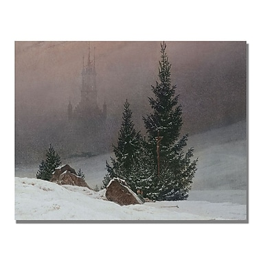Trademark Fine Art Caspar Friedrich 'Winter Landscape' Canvas Art 18x24 Inches