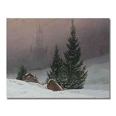Trademark Fine Art Caspar Friedrich 'Winter Landscape' Canvas Art