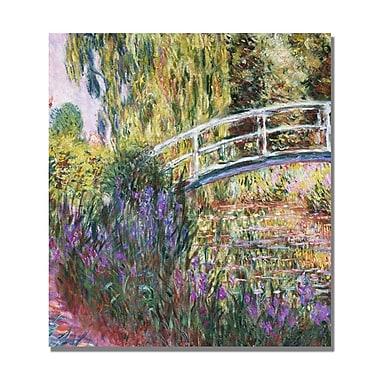 Trademark Fine Art Claude Monet 'The Japanese Bridge IV' Canvas Art.