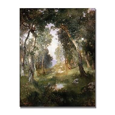 Trademark Fine Art Thomas Moran 'Forest Glade Santa Barbara' Canvas Art