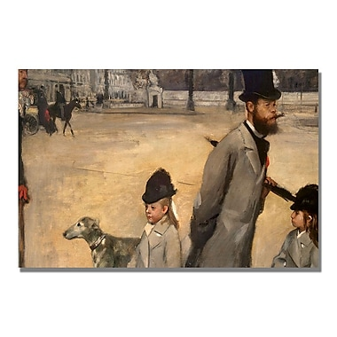 Trademark Fine Art Edgar Degas 'Place de la Concorde' Canvas Art 16x24 Inches