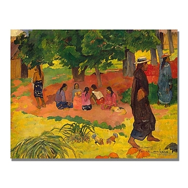 Trademark Fine Art Paul Gauguin 'Taperaa Mahana' Canvas Art 24x32 Inches