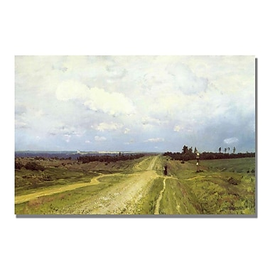 Trademark Fine Art Isaac Levitan 'The Vladimirka Road 1892' Canvas Art