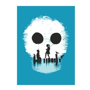 Trademark Fine Art Budi Satria Kwan Bye Bye Apocalypse Blue Canvas Art 22x32 Inches