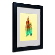 Trademark Fine Art Budi Satria Kwan Stone Castle Matted Art Black Frame 11x14 Inches