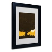 Trademark Fine Art Budi Satria Kwan Under Giant Oak Tree Matted Art Black Frame 11x14 Inches