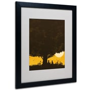 Trademark Fine Art Budi Satria Kwan Under Giant Oak Tree Matted Art Black Frame 16x20 Inches